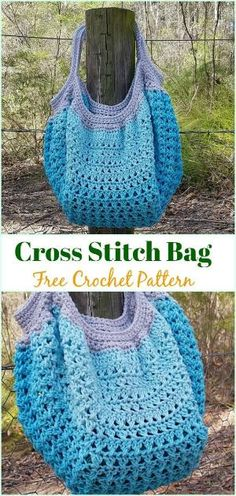 Cross Stitch Bag Free Crochet Pattern - #Crochet #Handbag Free Patterns by maryann maltby