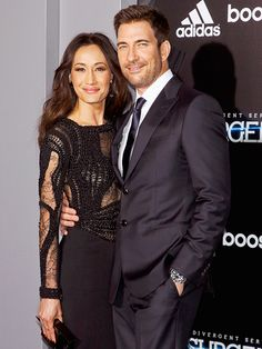 Star Tracks: Tuesday, March 17, 2015 | HOLD ON | Meanwhile, Insurgent star Maggie Q cuddles up to fiancé Dylan McDermott on the film's red carpet.