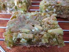 From Grandma Loy's Kitchen: Lime Coconut Nut Bars / grandmaloyskitchen.blogspot.com