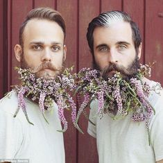 Gay best friends who decorate their facial hair earn internet fame