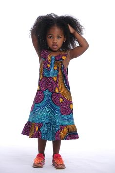 African Print Little Girl Dress