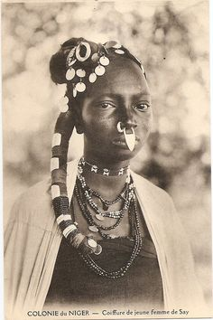 """Africa """"Young Lahobe girl from Cayor"""" Senegal Vintage"""