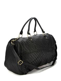 Bowery Weekender Bag by Deux Lux at Gilt, Woven #Vegan Leather!