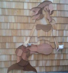 Shingle Art for your home. Shingle Style Architecture, Art And Architecture, Architectural Shingles Roof, Shake Shingle, Cedar Shingles, Mermaid Beach, Coastal Wall Art, Cabin Design, Beach Themes