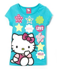 This Blue Icons Hello Kitty Tee - Girls by Hello Kitty is perfect! #zulilyfinds