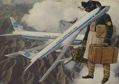 Jacques Prévert, Collage Chien Aviateur, 1955