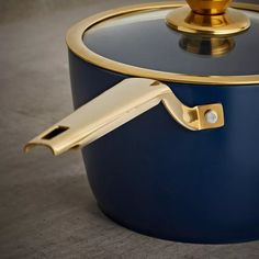 Buy Tower 5 Piece Ceramic Non Stick Pan Set - Blue and Gold   Pan sets   Argos Black Toaster, Ceramic Non Stick, Pan Set, Non Stick Pan, Argos, Hand Washing, Dishwasher, Tower, Stainless Steel