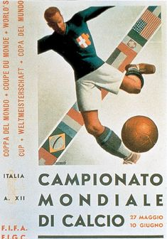 1934 World Cup Italy Poster
