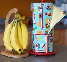 """Reusable Cloth """"Paper"""" Towels (http://blog.hgtv.com/design/2013/09/27/daily-delight-reusable-cloth-paper-towels/?soc=pinterest)"""
