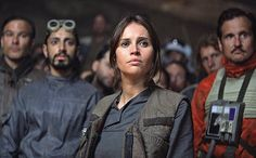 Hollywood has a long, not-so-proud history of not giving audiences an abundance of strong female characters. And on the rare occasions that it does, that strength often comes off as a surprise or is played as a punchline. Not so with the upcoming Star Warsstandalone film,Rogue One. Felicity Jones' Jyn Erso follows The Force Awakens' Rey as another kick-ass, independent female lead whose strength is never questioned nor played for comedy.