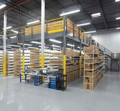 Warehouse Storage Solutions: Efficient Space Saving Tips - Our Tips For Warehouse Shelving, Warehouse Office, Warehouse Design, Warehouse Plan, Warehouse Logistics, Wall Storage, Closet Storage, Garage Storage, Mezzanine