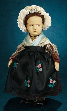 Forever Young - Marquis Antique Doll Auction: 154 Italian Felt Character Girl, Series 300, by Lenci
