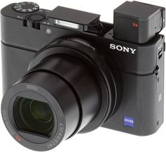 Sony RX100 III Review -- front left with flash and EVFdeployed