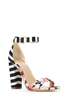 I love the stripe/floral combo! #ShoesForSpring