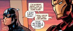 Cap has a sense of humor.