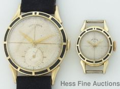 Textured Dial Mens and Womens Lord Elgin Matching Wrist Watch Pair #Elgin