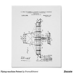 Flying-machine Patent Poster