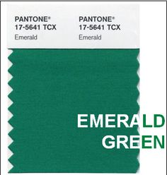 Pantone Color of 2013, Emerald Green is the new Tangerine