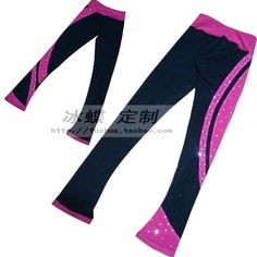 59.00$  Buy now - http://aligu7.worldwells.pw/go.php?t=32721630147 - kids trousers for ice skating custom girls figure skating trousers hot sale spandex keep warm ice figure trousers for children