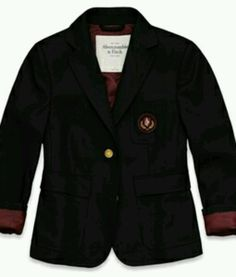 Prep school blazer, Abercrombie & Fitch. I don't like Abercrombie, but this is really adorable.