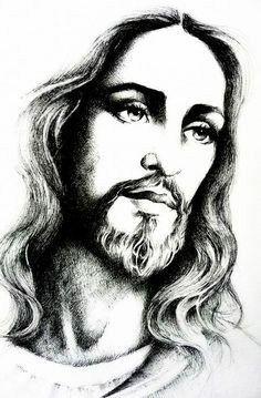 "jesus-christ/jesus-christ-by-mariebouldingue.jpg ""Jesus Christ"" by Marie Bouldingue Jesus Tattoo, Christus Tattoo, Jesus Sketch, Jesus Drawings, Jesus Christ Drawing, Pencil Drawings, Pictures Of Jesus Christ, Jesus Christus, Jesus Face"