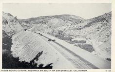 Highway 99 was carved through the canyons in 1933, bypassing the 18-year-old Ridge Route that connected Los Angeles with Bakersfield. Highway 99 would be replaced in the mid-1960s by Interstate 5.