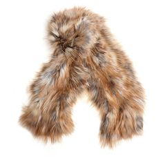 Backlash Knitted Fox Fur Scarf (€605) ❤ liked on Polyvore featuring accessories, scarves, fox fur shawl and fox fur scarves