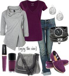 plum & grey