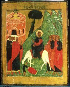 Icon depicting Christ's Entry into Jerusalem.