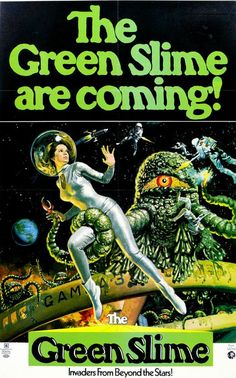 Vintage Sci-Fi Science Fiction Movie Poster The Green Slime Are Coming Giclee Art Print WIth Stretched Canvas Option by Vintagemasters on Etsy https://www.etsy.com/listing/212512575/vintage-sci-fi-science-fiction-movie