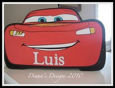 Personalized Lightning McQueen birthday card using Cricut Cars.