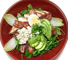 Here we have the famous Cobb Salad!  It's not really known where this particular salad originated,
