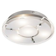 Kichler Chrome Modern/Contemporary LED Flush Mount Light at Lowe's. This chrome finish flush mount fixtures offers an appealing combination of form and function. The clear etched glass diffuser provides a warm glow and Entry Lighting, Cool Lighting, Lighting Ideas, Led Flush Mount, Flush Mount Lighting, Led Ceiling, Ceiling Fixtures, Geometric Pattern Design