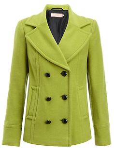 Charteuse pea coat...love the color!