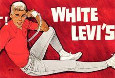 "men's ""white Levi's"" 1960 - Google Search"