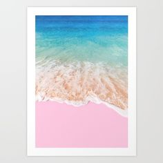PINK SAND Art Print by Paul Fuentes. Worldwide shipping available at Society6.com. Just one of millions of high quality products available.