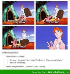 And this,ladies and gentlemen, is why this is The most underrated, unappreciated Disney cartoons of all times! (Well this and James Woods as Hades!!) :)