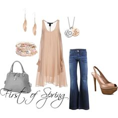 First of Spring...pretty yet casual.... I like the jeans