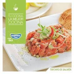 Tártaro de salmón. #Fish #Salmon #Recetario #Receta #RecetarioExpress #Lider #Food #Foodporn