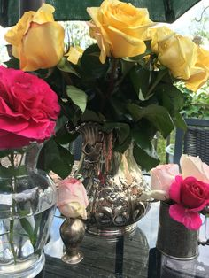 Nothing better than roses in antique silver!
