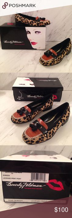 🎉HP BNIB Beverly Feldman Pony-Leopard Flats Beautiful shoes, perfect to dress up your outfit and stand out (in the right way). Get them while you can! When you open the box, the smell is heavenly 😍😍 leather!!! Size 7M style- Doreen 🎉HP by PFF @jeweledonyx on 11/21 (I had to relist the item and didn't want to lose the honor of a host pick). Beverly Feldman Shoes Flats & Loafers