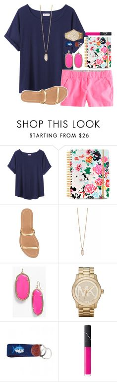 """""""this notebook is adorable"""" by okieprep ❤ liked on Polyvore featuring Organic by John Patrick, ban.do, J.Crew, Zoya, Kendra Scott, Michael Kors, Southern Tide and NARS Cosmetics"""