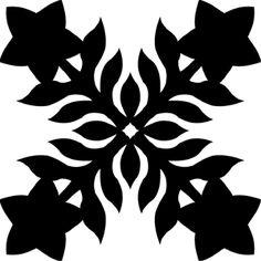 Hawaiian Quilt Tile 65 : HaoleKid