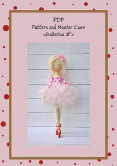 PDF Cloth Doll Pattern 15PDF Sewing TutorialSoft Doll от NilaDolss