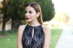 Beauty blogger, Fall makeup look, wine lips