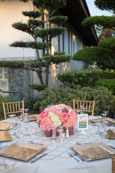 A Modern, Elegant Pink and Gold Wedding