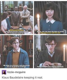 This is the best Series of Unfortunate Events I've ever seen. True to the book, and quite hilarious I have a small crush on Klaus Baudelaire ❤️ Movies Showing, Movies And Tv Shows, Les Orphelins Baudelaire, A Series Of Unfortunate Events Netflix, Faith In Humanity, Book Fandoms, Book Nerd, Movie Tv, Movie Memes