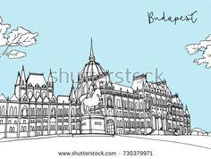 Travel illustration - Budapest parliament