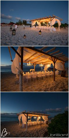 Gorgeous beach reception