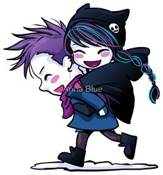 Harry and Zoe Gothic Fairy, Gothic Anime, Emo Couples, Anna Blue, Emo Love, Pastel Artwork, Emo Art, Witch Art, Couple Drawings